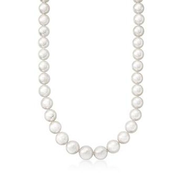 Mikimoto 9x7mm A1 Akoya Pearl Necklace in 18kt White Gold. #215268