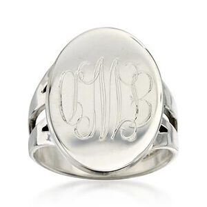 Sterling Silver Personalized Signet Ring #773548