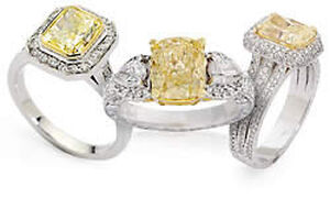 Fancy Yellow Diamond Engagement Rings