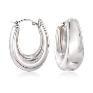 Sterling Silver Hoop Earrings #663746