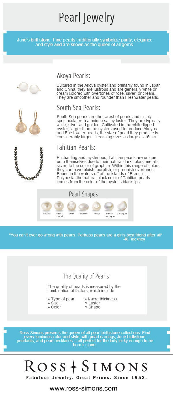 Pearl Jewelry Infographic. Text for this infographic can be found below under 'Infographic Full-Text' headline.