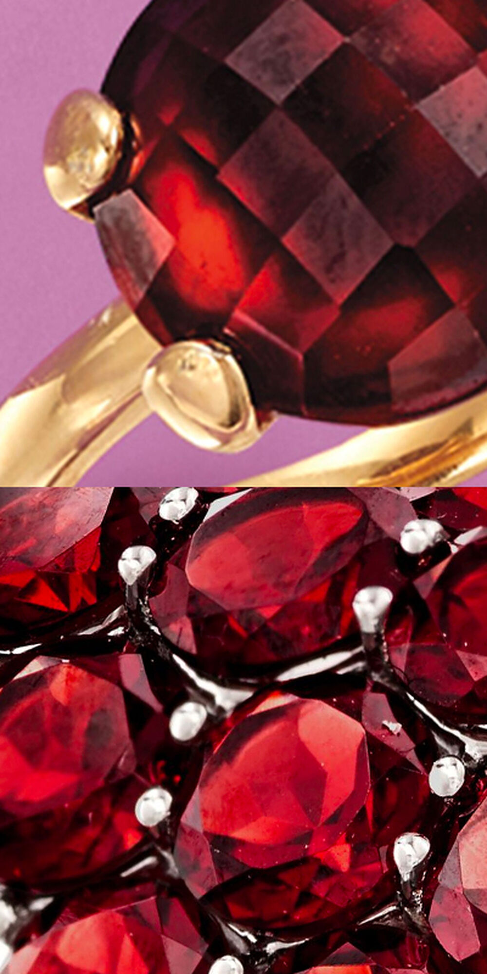 Collage of Garnet Jewelry Tile #1