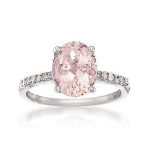 Pink Morganite and Diamond Ring #693226