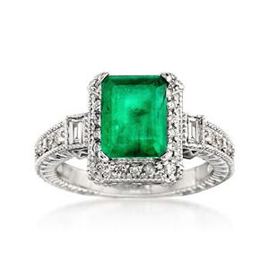 Emerald and Diamond Ring #663704