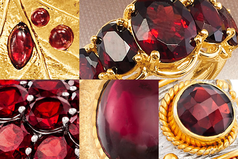 Collage of Garnet Jewelry Tile #2
