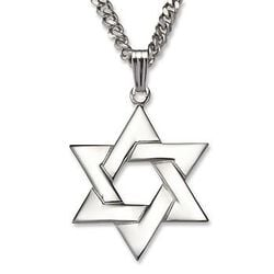 Star of David Necklace Pendant in Sterling Silver. #0460329