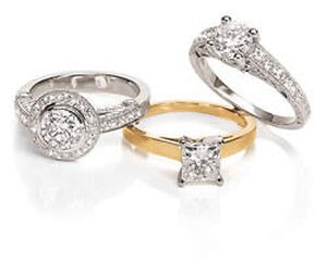 Set of Three Engagement Rings