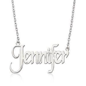 Sterling Silver Name Necklace #448725