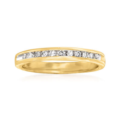 C. 1990 Vintage .25 ct. t.w. Diamond Ring in 14kt Yellow Gold