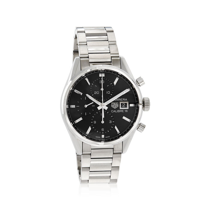 TAG Heuer Carrera Men's 41mm Chronograph Stainless Steel Watch, , default