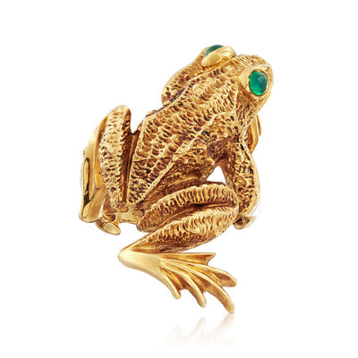 C. 1969 Vintage Kurt Wayne 18kt Yellow Gold Frog Ring, , default