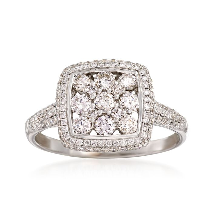 C. 2000 Vintage 1.23 ct. t.w. Diamond Cluster Ring in 18kt White Gold. Size 8.75, , default