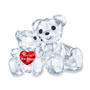 Swarovski Crystal 'You'Re the Best' Kris Bear Parent and Child Figurine #315460
