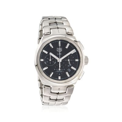TAG Heuer Link Men's 42mm Auto Chronograph Stainless Steel Watch - Black Dial