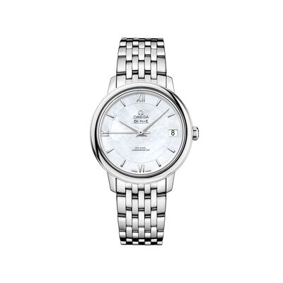 Omega De Ville Prestige Women's 32.7mm Mother-Of-Pearl Watch in Stainless Steel, , default