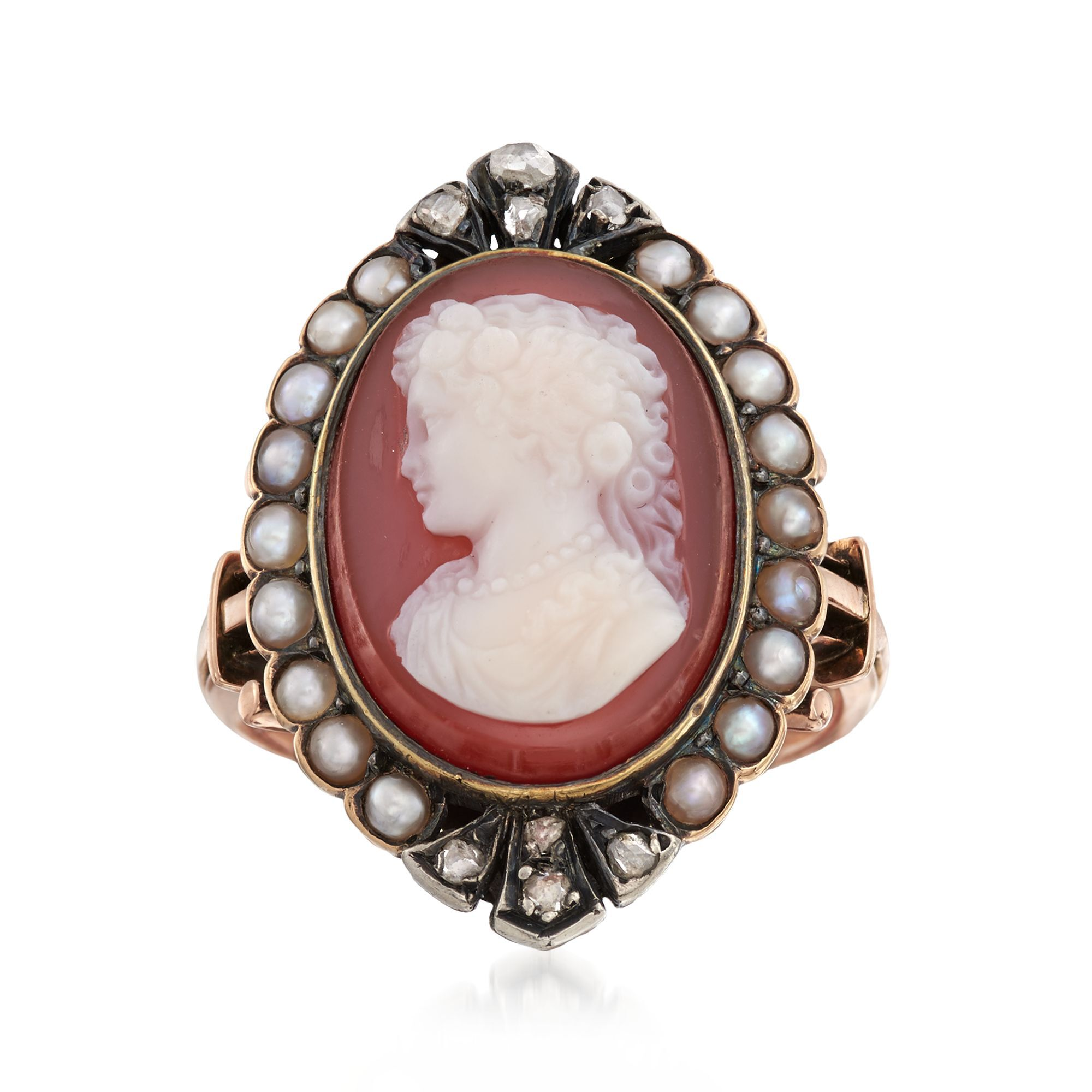 Official Website Vintage Silver Cameo Ring Size Latest Fashion Fine Jewelry