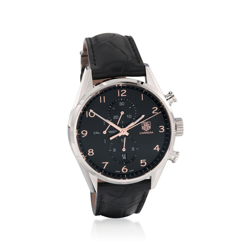 6b6e22facfd7b TAG Heuer Carrera 1887 Chronograph Stainless Steel Men s Watch ...