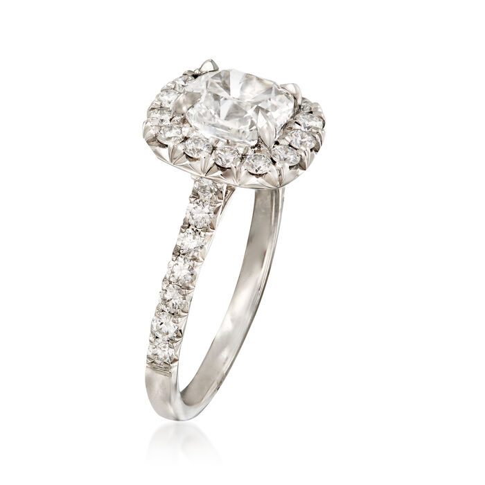 Henri Daussi 2.46 ct. t.w. Certified Diamond Engagement Ring in 18kt White Gold
