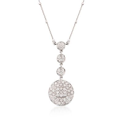 ALOR .42 ct. t.w. Diamond Multi-Tier Pendant Necklace in 18kt White Gold