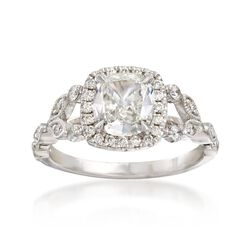 Henri Daussi 1.52 ct. t.w. Certified Diamond Engagement Ring in 18kt White Gold, , default