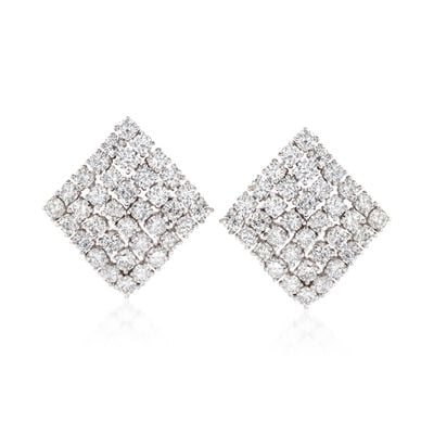 C. 2000 Vintage 9.00 ct. t.w. Diamond Kite Earrings in 14kt White Gold, , default