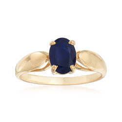 C. 1990 Vintage .89 ct. t.w. Sapphire Ring in 14kt Yellow Gold, , default