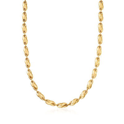 C. 1980 Vintage Tiffany Jewelry 18kt Yellow Gold Link Necklace