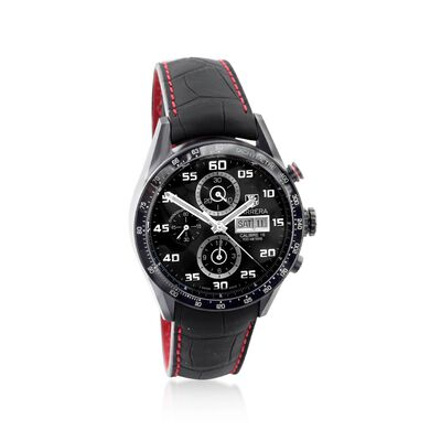 TAG Heuer Carrera Men's 43mm Chrono Day-Date Black Titanium Over Stainless Steel Watch