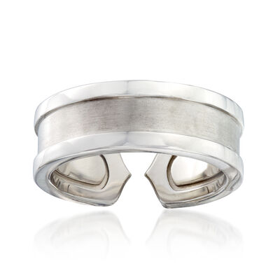 C. 2000 Vintage Cartier Band Ring in 18kt White Gold, , default
