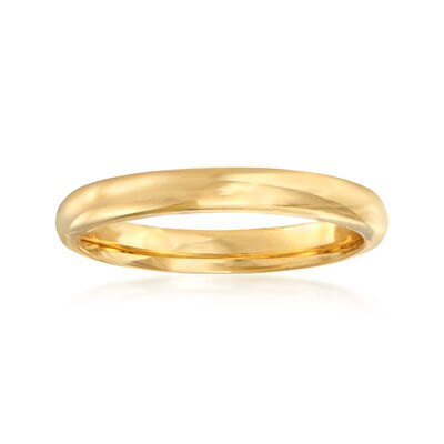 C. 2000 Vintage 3mm Band in 14kt Yellow Gold, , default