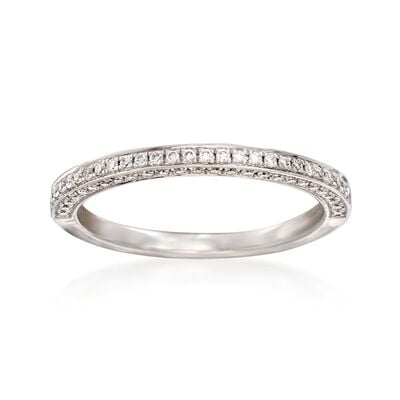 Henri Daussi .30 ct. t.w. Diamond Wedding Ring in 14kt White Gold, , default