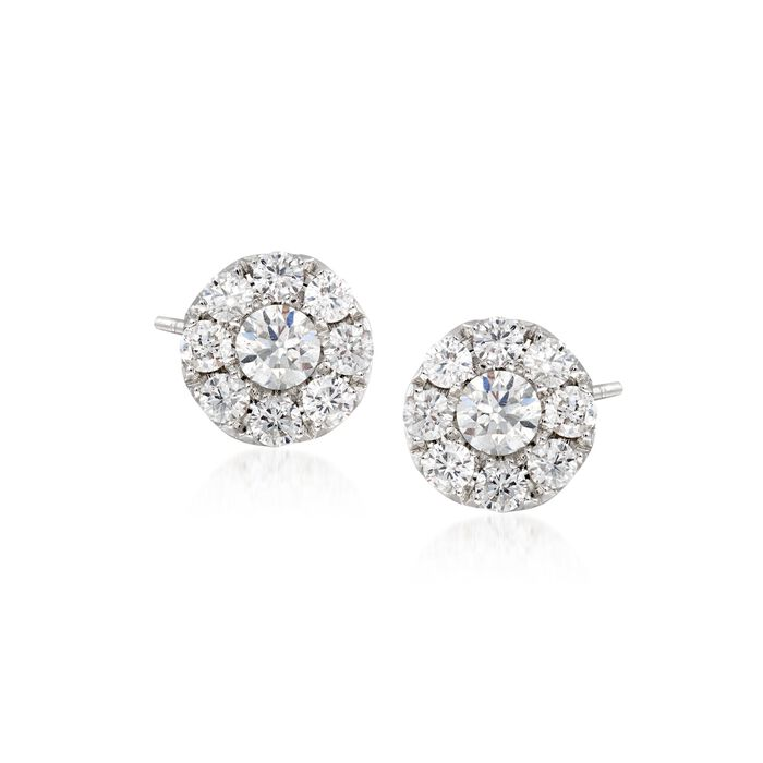 Gregg Ruth .45 Carat Total Weight Diamond Round Studs in 18-Karat White Gold, , default