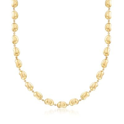 "C. 2000 Vintage Tiffany Jewelry ""Elsa Peretti"" 18kt Yellow Gold Bead Necklace, , default"