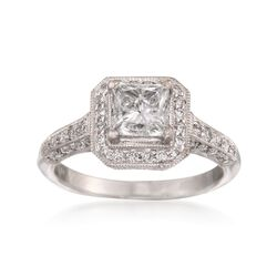 1.63 ct. t.w. Certified Diamond Engagement Ring in 18kt White Gold, , default