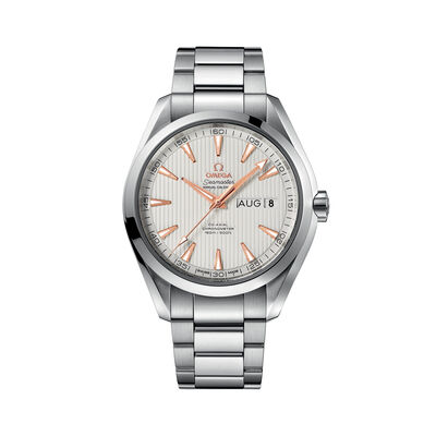 Omega Seamaster Aqua Terra Men's 43mm Automatic Stainless Steel and 18kt Rose Gold Watch