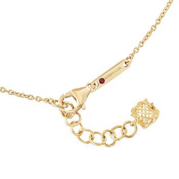 """Roberto Coin Silk .13 Carat Total Weight Diamond Square Pendant Necklace in 18-Karat Two-Tone Gold. 18"""", , default"""