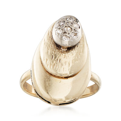 C. 1980 Vintage .10 ct. t.w. Diamond Ring in 14kt Yellow Gold