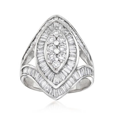 C. 1980 Vintage 2.47 ct. t.w. Diamond Cluster Ring in 18kt White Gold