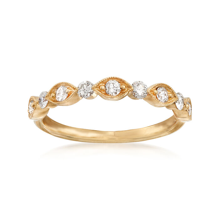 Henri Daussi .30 ct. t.w. Diamond Wedding Ring in 18kt Yellow Gold  , , default