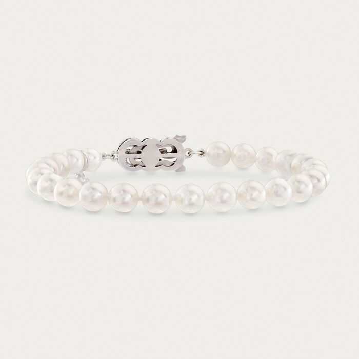 Mikimoto 6-6.5mm A1 Akoya Pearl Bracelet in 18kt White Gold