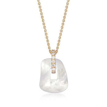 """Mattioli Puzzle .17 Carat Total Weight Diamond Necklace in 18-Karat Yellow Gold With 3 Interchangeable Drops: Black, Red and White. 15.75"""", , default"""