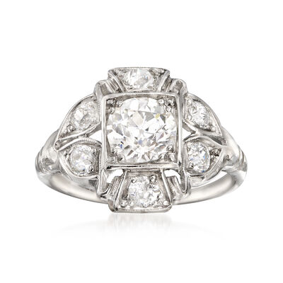 C. 1980 Vintage 1.50 ct. t.w. Diamond Ring in Platinum