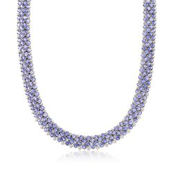 C. 1990 Vintage 45.60 ct. t.w. Iolite Necklace in 14kt White Gold, , default