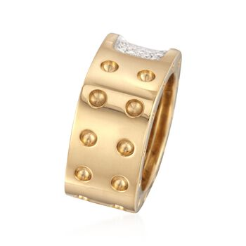 Roberto Coin Pois Moi .28 Carat Total Weight Diamond Ring in 18-Karat Yellow Gold. Size 7, , default