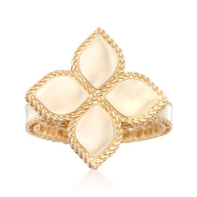 "Roberto Coin ""Princess"" 18kt Yellow Gold Flower Ring, , default"