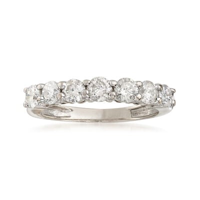 C. 1980 Vintage 1.00 ct. t.w. Diamond Ring in 14kt White Gold, , default