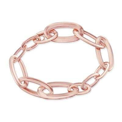 "Roberto Coin ""Oro Classic"" 18kt Rose Gold Narrow Link Bracelet, , default"