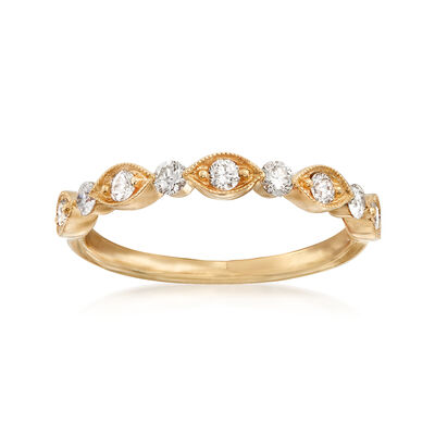 Henri Daussi .30 ct. t.w. Diamond Wedding Ring in 18kt Yellow Gold