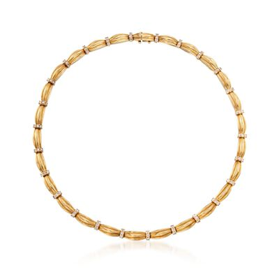C. 1992 Vintage Tiffany Jewelry 4.30 ct. t.w. Diamond Station Necklace in 18kt Yellow Gold, , default