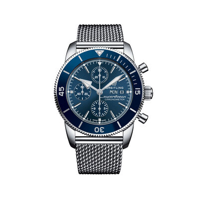 Breitling Superocean Heritage II Chronograph Men's 44mm Stainless Steel Watch - Blue Dial, , default